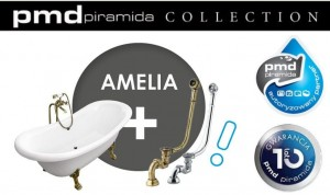 PMD Besco - Wanna retro Amelia 190 nogi chrom  - Dostawa Gratis !!!